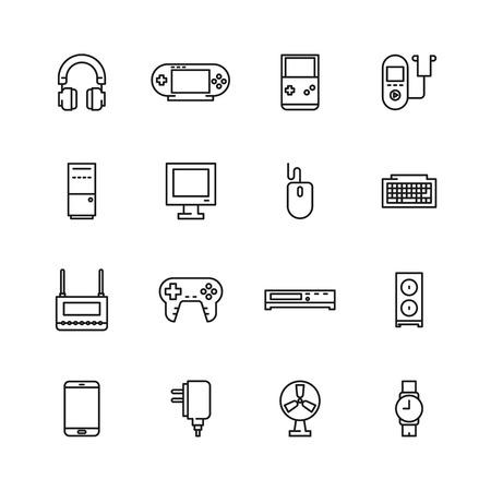 psp: Electronics icon set. video game icon .technology icon simple set
