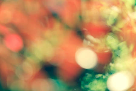 Vintage style Red green light bokeh nature background photo