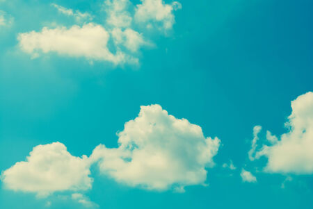 clound: Vintage style  Clound in blue sky Stock Photo