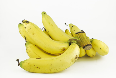 Banana on white background photo
