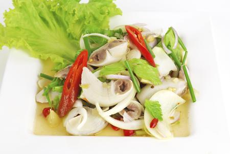 chitterlings: pork chitterlings in spicy salad