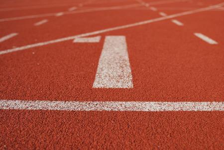 Athletic atletiekbaan in het stadion Stockfoto