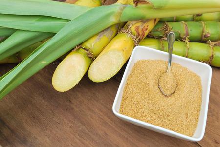 Close up Sugar and sugarcane photo