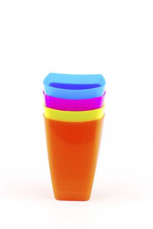 Colorful plastic glasses photo