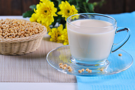 soymilk: soy milk with soy beans
