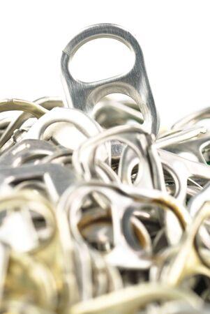 Old aluminum ring pulls photo