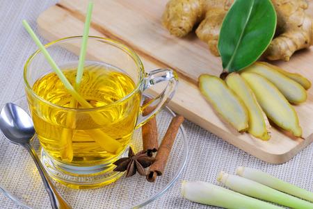 Lemongrass tea photo