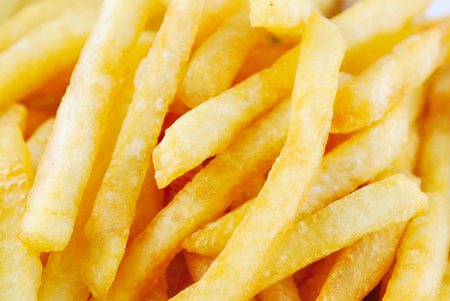 Traditional French fries with ketchup photo