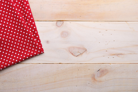 table linen: the background made from tablecloth on wooden table