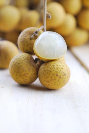 longan: Fresh longan Stock Photo