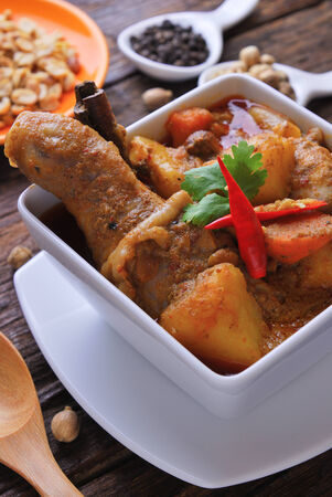 chunky: Spicy curry chicken