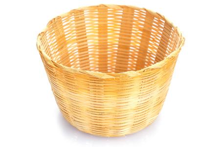 Empty wooden fruit or bread basket photo