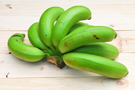 Bunch of raw bananas photo
