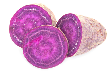 Purple Colored Sweet Potatoes Stock Photo