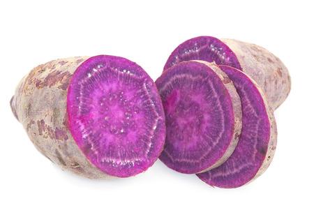 Paars Gekleurde zoete aardappelen