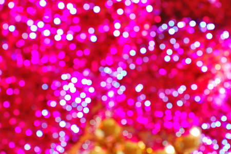red pink: Defocused abstract red pink and yellow christmas background Stock Photo