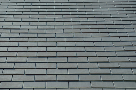 roof apartment: horizontal picture of slates on a roof Stock Photo