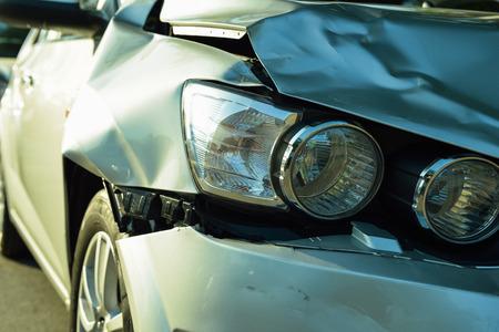 Auto-ongeluk, een deel van de auto-ongeluk verzekering concept