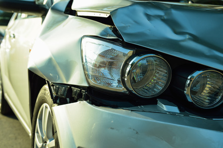 Car accident, part of car crash  insurance concept Stock Photo
