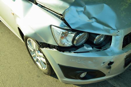 Car accident, part of car crash  insurance concept Standard-Bild