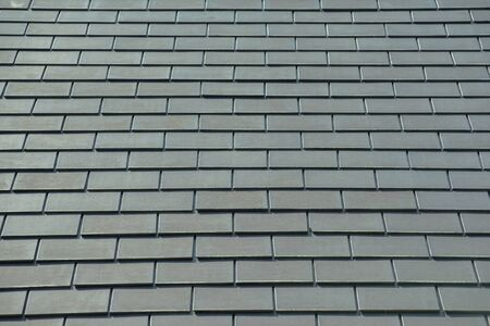 tiers: horizontal picture of slates on a roof Stock Photo