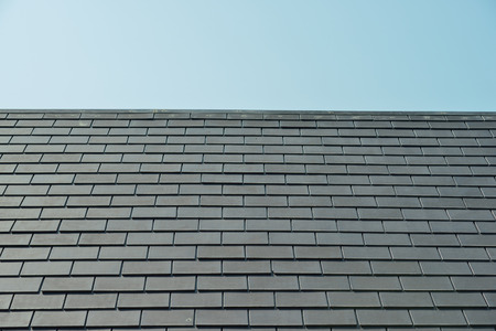 horizontal picture of slates on a roof Stock Photo