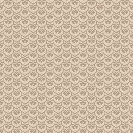 classics: Retro seamless classics pattern heart shape in blue and gold brown color