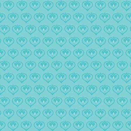 classics: Retro seamless classics pattern heart shape in blue color