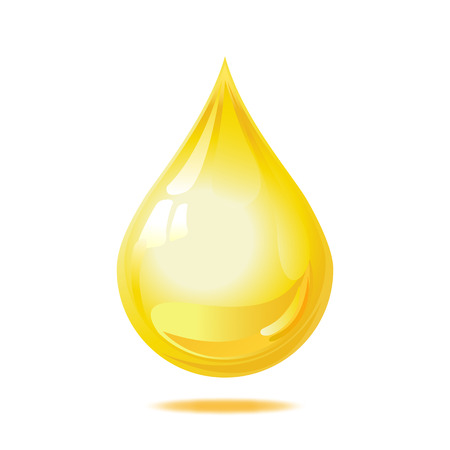 Drop of oil isolated on white background. Vector illustration Ilustracja