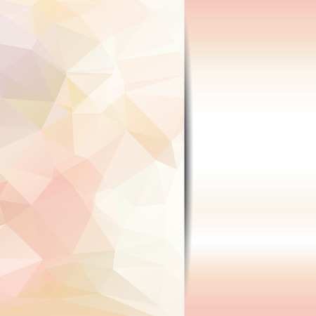 Abstract geometric background with polygons pastel color.  Illustration