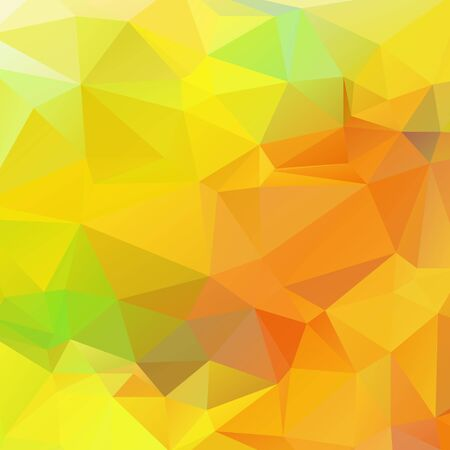 rumpled: Yellow orange and Green color like season change autumn abstract geometric rumpled triangular low poly style vector illustration graphic background