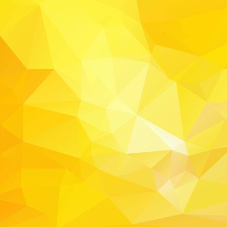 rumpled: Yellow light white abstract geometric rumpled triangular low poly style vector illustration graphic background Illustration