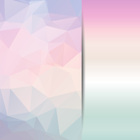 Abstract geometric background with polygons pastel color. Vector EPS10 illustration. Illustration