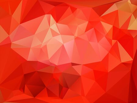 rumpled: Red abstract geometric rumpled triangular low poly style vector illustration graphic background