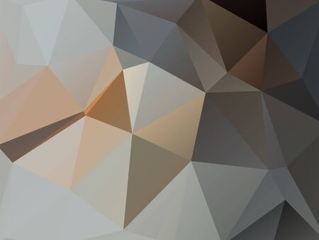 rumpled: Brown and gray abstract geometric rumpled triangular low poly style vector illustration graphic background Illustration
