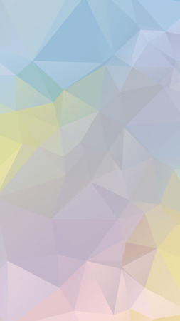 parametric: Colorful light Pastel geometric rumpled triangular low poly style vector Background for Smart phone Illustration