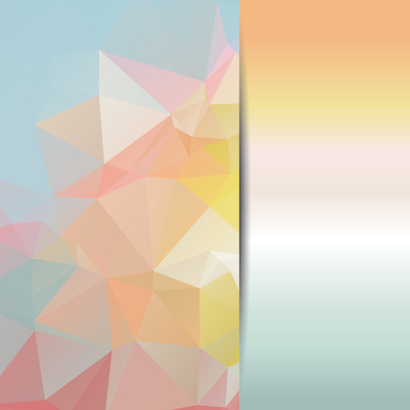 emplate: Abstract geometric background with polygons pastel color. Vector EPS10 illustration. Illustration