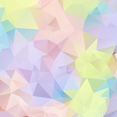 Abstract pastel color triangle shape background vector illustration Vector
