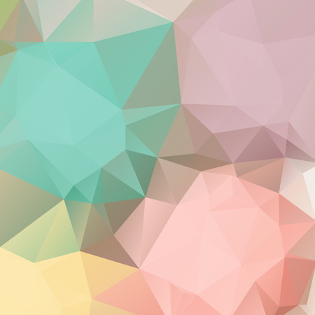 pastel colour: Abstract pastel color triangle shape background vector illustration Illustration