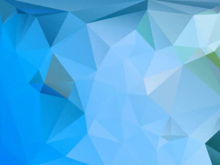 rumpled: Blue and Green abstract geometric rumpled triangular low poly style vector illustration graphic background