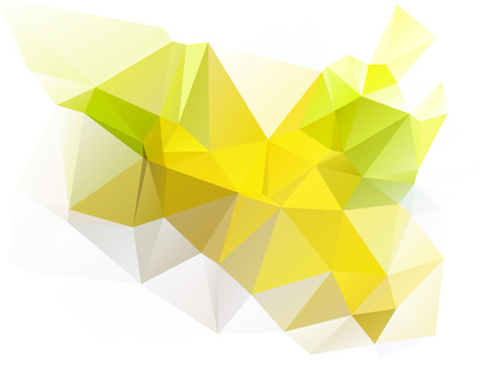 rumpled: Yellow and white abstract geometric rumpled triangular low poly style vector illustration graphic background