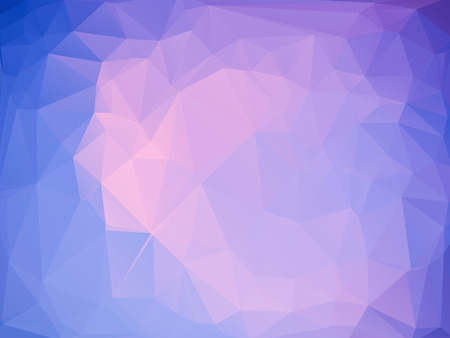 rumpled: Purple pink blue abstract geometric rumpled triangular low poly style vector illustration graphic background Illustration