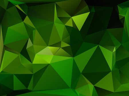 rumpled: Dark Green abstract geometric rumpled triangular low poly style vector illustration graphic background