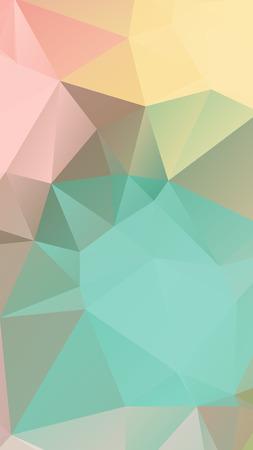 pink green: Rosa luz verde en colores pastel geom�trico arrugada triangular estilo bajo poli vector Fondo para el tel�fono inteligente