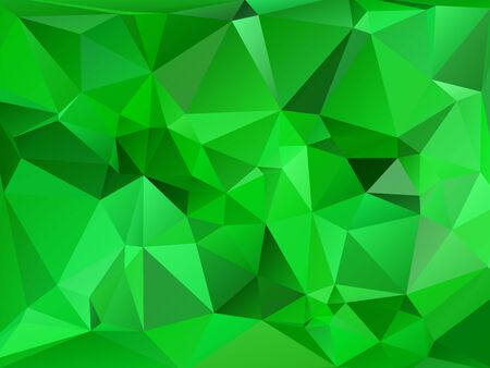 rumpled: Emeral green abstract geometric rumpled triangular low poly style vector illustration graphic background
