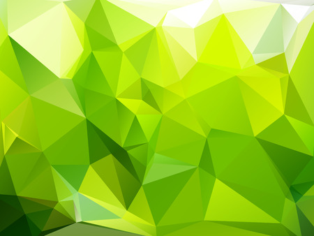 rumpled: Green summer abstract geometric rumpled triangular low poly style vector illustration graphic background