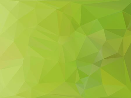 rumpled: Green abstract geometric rumpled triangular low poly style vector illustration graphic background