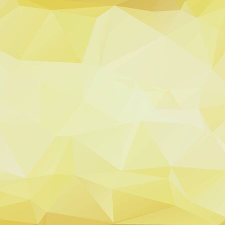 rumpled: Yellow light white gold color abstract geometric rumpled triangular low poly style vector illustration graphic background