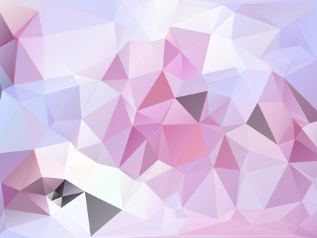 rumpled: Pastel pink purple and white abstract geometric rumpled triangular low poly style vector illustration graphic background