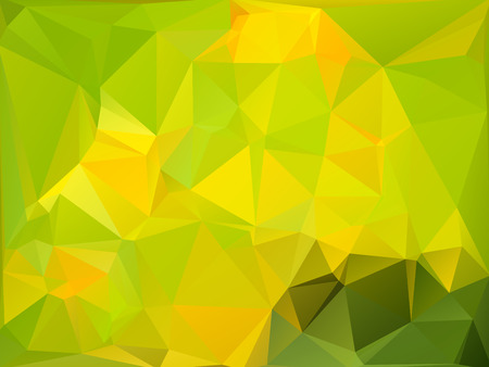 rumpled: Yellow green abstract geometric rumpled triangular low poly style vector illustration graphic background